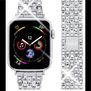 Apple Watch band with crystals 42/44 New Stainless